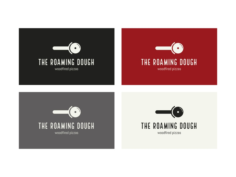 The Roaming Dough final logo colourpalette typography type startuplogo startup indie pizza mark logo brand and identity branding brand