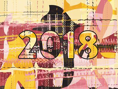 Year in Review 2018 web design branding logo design graphic design year 2018 pattern design surface pattern design pattern review design