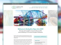 Derbyshire Open Arts homepage redesign