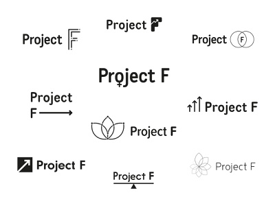Project F logo ideas logo women in tech branding concept branding type mark typography feminism female identity wip ideas brand and identity brand