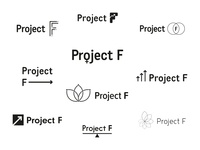 Project F logo ideas logo women in tech branding concept branding type mark typography feminism female identity wip ideas brand and identity brand