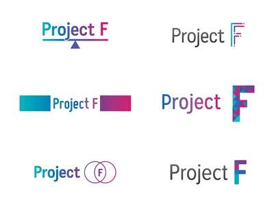 Project F logo developments