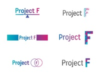 Project F logo developments logo women in tech branding concept wip typography type mark identity ideas feminism colour female branding brand and identity brand