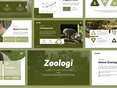 Zoologi Animals Presentation zoo animals animal design creative creative  design presentation design powerpoint template presentation template powerpoint design