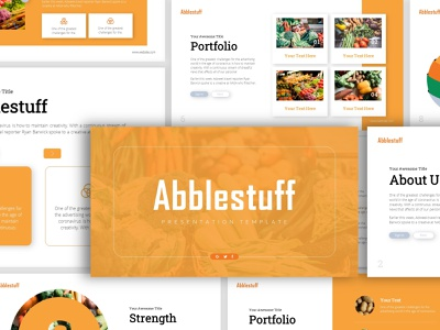 Abblestuff Vegetables Presentation slide portfolio creative design creative  design presentation design powerpoint template presentation template vegetables vegetable powerpoint design