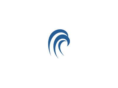 Wave Eagle Logo sport design vector smart bird simple clean company icon logo