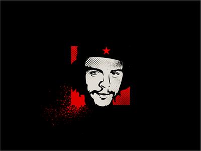 Comandante human free star freedom power liberty graphic design design revolution vector simple illustration icon logo
