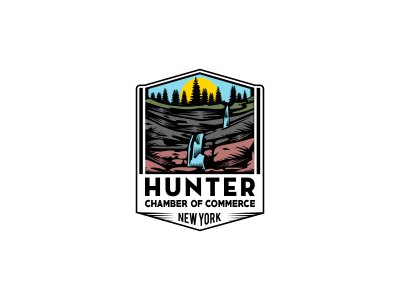 Hunter color retro style vintage water mountain trees nature tourism recreation sport waterfall