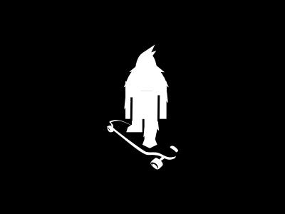 Yeti Board icon cool simple white creature mountain skate recreation sport yeti board