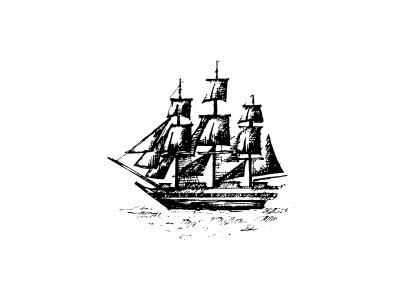 Ship Icon vintage retro summer drawing sea pirate brand icon logo ship drawing`` ``hand