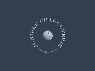 Juniper Charcuterie logo drink food meat charcuterie evergreen tree juniper