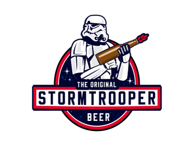 Stormtrooper movie space branding logodesigner illustration brand logodesign fun unique design craft brewery craft brew craft beer label design starwarsday starwars stormtrooper illustrated illustratioin logo logoicon beer beer branding