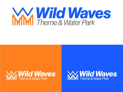 Wild Waves Theme Park graphic design illustrator illustration flat minimal vector branding logo design