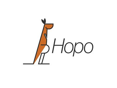 kangaroo logo illustration minimal icon vector illustrator flat branding logo graphic design design