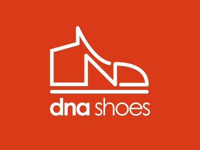 Shoe company logo minimal vector illustrator flat branding logo graphic design design