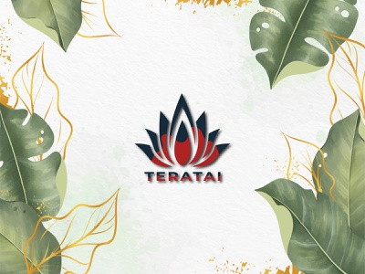 TERATAI alphabet type graphic background typography concept technology style element line abstract illustration sign modern icon design vector symbol logo