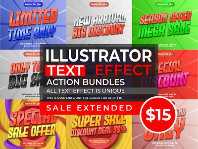 9 Illustrator Text Effect Bundle