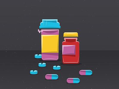 Mts Shot1 bottles and pills