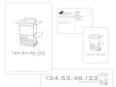DesignGalleryShow PromoPieces minimalist signage postcard poster design vector illustration design