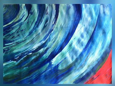 To the end of anger ripples waves ultramarine fire peaceful abstractart peace meditation figurative stilllife acrylicart acrylic acrylicpainting fineart contemporaryart indianart karthikshetty atmarasa