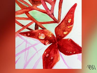 My gran's flowers peace meditation streetart figurative stilllife peopleisee watercoloronpaper aquarellepainting aquarelle watercolorart watercolor watercolorpainting fineart contemporaryart indianart karthikshetty atmarasa
