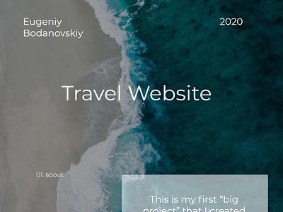 Travel website - ui/ux web branding logo design illustration prodesign one page project ux uiux ui adobe xd photoshop travel traveling web design webdesign веб-дизайн