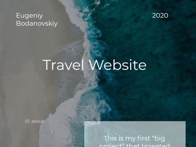 Travel website - ui/ux web branding logo design illustration prodesign one page project ux uiux ui adobe xd photoshop travel traveling web design webdesign веб-дизайн