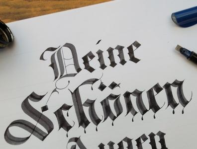 Deine Schönen Augen tattoo art karma handwritten font typography illustration handwrittenfont design calligraphy artist calligraphy and lettering artist calligraphy calligraphy logo calligraphy font