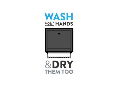 Fun Illustration illustration fun hands wash dry