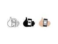 Hand w/ device