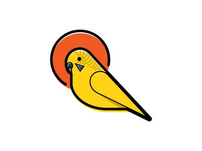 Parakeet Illo parakeet illustration bold bird deco registration print