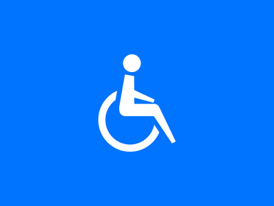 Accesability Icon accessability icon pictogram glyph handicapped wheelchair figure person human care iconography symbol