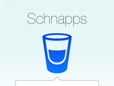 Schnapps App Icon app icon iconography pictogram glass shot glyph menu menu bar mac osx mac gradient