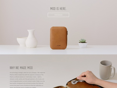 Site Design // This Is Ground - MOD leather site web responsive hand product physical font soft button