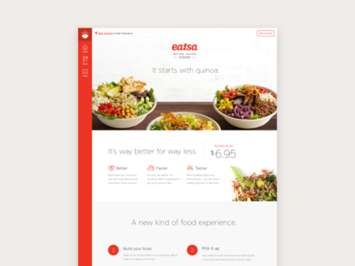 Eatsa Site navigation page landing marketing ui food web