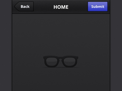 iOS Stuff mobile ios iphone dark ui interface empty empty screen purple button top bar glasses