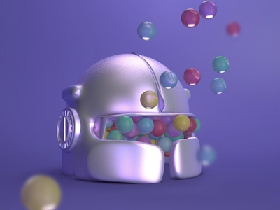 we don't think outside the box. we don't know where the box is spaceship astronaut space helmet branding design 3dmodelling 3d animation