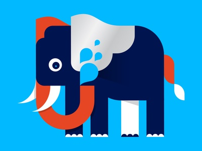 Portfolio 1 website elephant illustration water smartwater