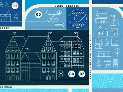 Frankfurt food editorial illustration map