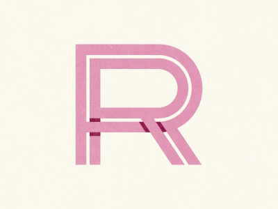 RR Monogram monogram r letter icon logo mark identity