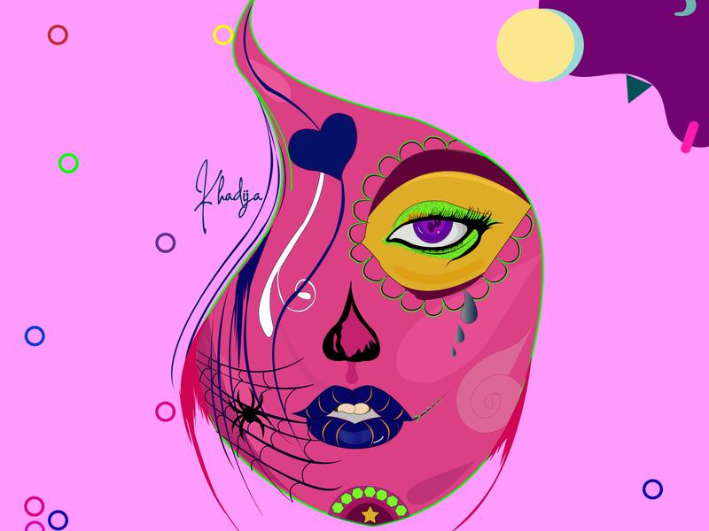 Abstract Art- Abstract theme based Lady face abstract art digital art mockup illustration digitalart branding artwork artdirection vector design graphic design creativity art