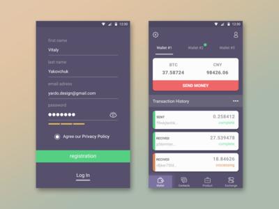 BTC Wallet App Concept