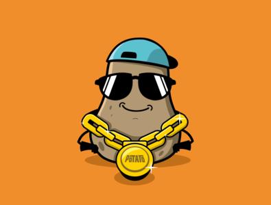Potablink blink potato mascot character mascot design character design