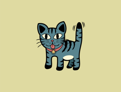 Annoying Cat character design illustration tshirtdesign
