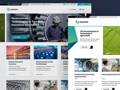 Hexagon Rebrand desktop design homepage website hexagon