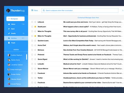 Thunderbug Email email design dashboard application email thunderbug