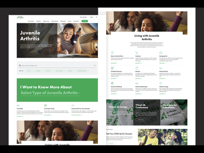 Arthritis Foundation website brand webdesign web arthritis