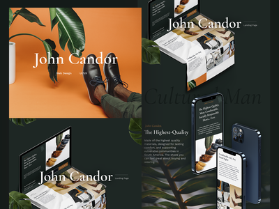 John Candor — Project Showcase 📘 fashion brand web design