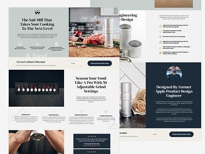 🧂 Moulin Salt Landing Page website webdesign ux interface design ui