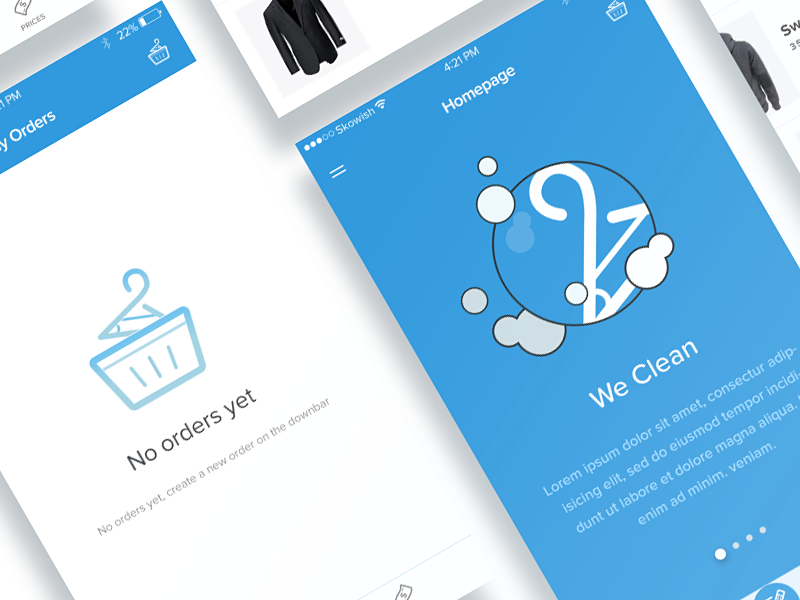 Ghasal: iOS Laundry  inspiration iphone clean wash laundry interface design ux ui mobile app ios